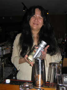 Anistatia Miller and Heavy Water Vodka bottle