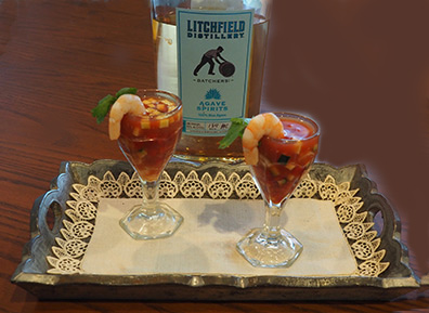 Luxury Experience - Agave Spirits Shrimp Shooters - photo by Luxury Experience