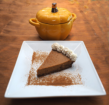 Luxury Experience - Maple Bourbon Pumpkin Pie - Photo by Luxury Experience