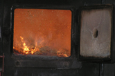 Bagasse burning