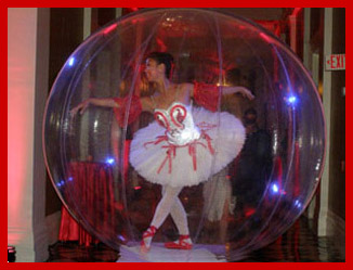 Beefeaters Masquerade Ball - Ballerina in Globe - Photo by Luxury Experience