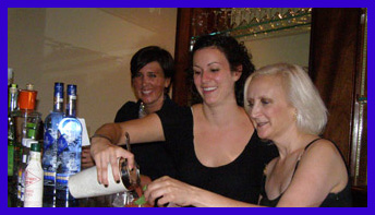 Coquette Bistro Team - Elizabeth, Ali with Debra Argen - TOC 2011 - photo by Luxury Experience