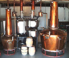Pot Stills from Prichrd's Distillerry