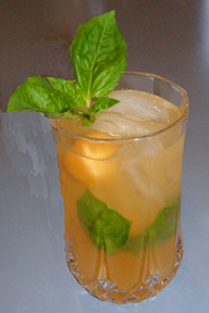 Luxury Experience's Cantaloupe Basil Cooler  Photo By Luxury Experience