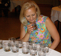 Debra at Work Judging Rums