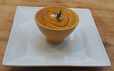 Luxury Experience Butternut Squash soup with Siera Norte White Whiskey - photo by Luxury Experience
