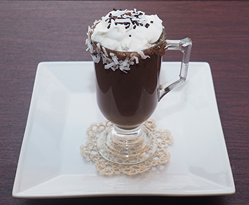 Luxury Experience Hot Choco-Coco-Loco with Siera Norte White Whiskey - photo by Luxury Experience