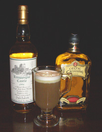 Luxury Experience Irish Coffee with Knappogue Castle Irish Whiskey and Celtic Crossing Liqueur - Photo by Luxury Experience