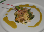 Rum Butter Poached Lobster at Commanders Palace