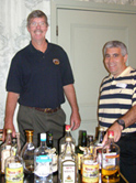 Ed Hamilton and Edward Nesta at Rum Judging
