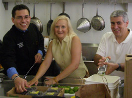 Junior Merino, Debra C. Argen, Edward F. Nesta Prepping Ingredients for Seminar