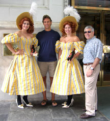 Dubonnet Girls, Tom Krznarich, and Edward Nesta at Tales of the Cocktail 2009