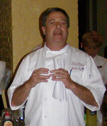 Executive Chef Chris Montero at Bacco Spirited Dinner, New Orleans