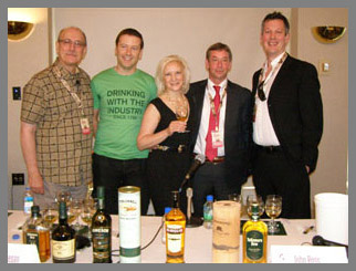Debra Argen, Paul Pacult, Liam Donegan, John Cashman, John Ross - Irish Whiskey Legends - TOC 2011 - Photo by Luxury Experience