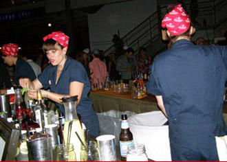 Rosie the Riverers Bartenders at Swinging '40s Shore Leave Ball - TOC 2011 - Photo by Luxury Experience