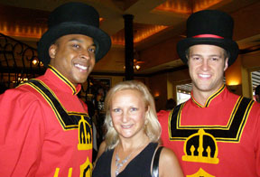 Debra and the Beefeaters Guards at TOC 08 Event