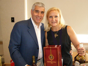 Edward and Debra at Cognac and Armagna Seminar