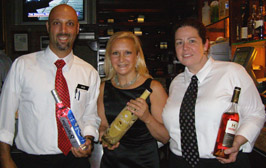 Mike, Debra, and Laurie at Ralph's on the Park Spirited Dinner