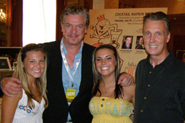 Renee Valeton, Christopher McDonald, Gabby Grass, and Rob Clemenz at French Market TOC 08