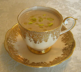 Luxury Experience's Jerusalem Articoke and Chestnut Soup - Photo by Luxury Experience