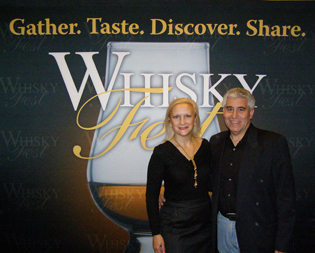 Debra C. Argen and Edward F. Nesta at WhiskyFest in New York - Photo by Luxury Experience