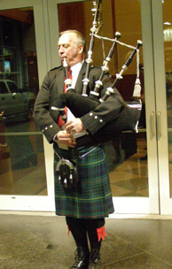 Bagpipes at Whisky Live New York - Photo by Luxury Experience