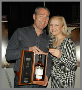 Debra with Midleton Barry Crokett Legacy Irish Whiskey  - Photo by Luxury Experience