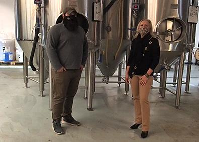 Josh Metz, Debra C. Argen - Woodbury Brewing Company - Woodbury, CT - photo by Luxury Experience