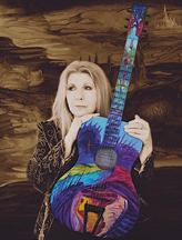 Annie Haslam - Rainforest Painted Guitar