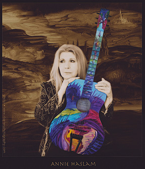 Annie Haslam - handpainted guitar by Annie Haslam