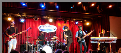 Boney James, Kendall Gilder, Smithy Smith, Omari Williams, Mark Stevens at B.B. Kings NYC - photo by Luxury Experience