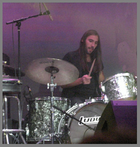 Dana Fuchs' Drummer at Stage 48 photo by Luxury Experience