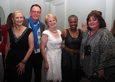 Debra C. Argen, Paul Nethercott, Louisa Green, Amy Pauuszek GIFF 2019 Director's Party - photo by Luxury Experience