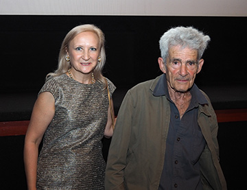 Debra C. Argen, Artist  Larry Poons - GIFF 2018 - photo by Luxury Experience