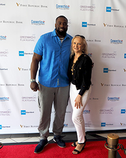 Brian Banks and Debra C. Argen - photo by Luxury Experience