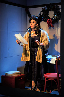 Elissa DeMaria - It's A Wonderful Life - A Live Radio Play - Music Theatre of Connecticut - photo by Alex Mongillo