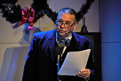 Jim Schilling - It's A Wonderful Life - A Live Radio Play - Music Theatre of Connecticut - photo by Alex Mongillo