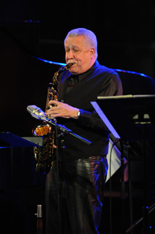 Paquito D'Rivera on saxophone- photo by Frank Stewart