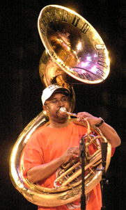 Phil Frazier - Rebirth Brass Band - Photo by Luxury Experiene