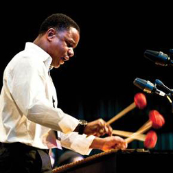Stefon Harris playing double mallets