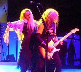 Stevie Nicks and Waddy Wachtel performing