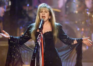 Stevei Nicks on stage