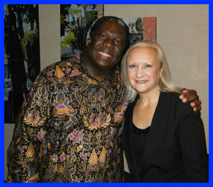Vusi Mahlasela and Debra Argen- photo by Luxury Experience