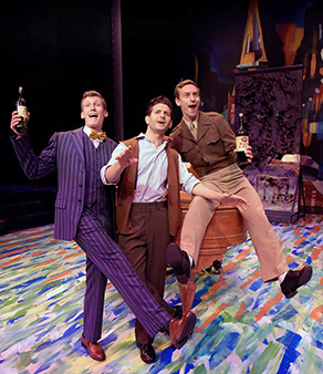Westchester Broadway Theatre - An American in Paris - Johnathan Young, Brandon Haagenson, Tommaso Antico - photo by John Vecchiolla