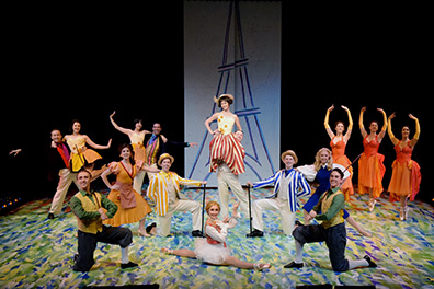 Westchester Broadway Theatre - An American in Paris - Cast - photo by John Vecchiolla