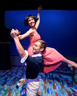 Westchester Broadway Theatre - An American in Paris - Deanna Doyl, Brandon Haagenson - photo by John Vecchiolla