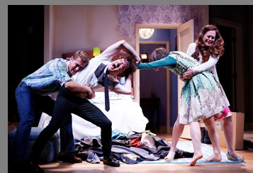 Westport Country Playhouse -  Scott Drummond, Carson Elrod, Sarah Manton, and Claire Karpen  - Bedroom Farce