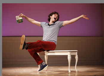 Michael Urie as Alex More -Buyer & Cellar -photo by Carol Rosegg