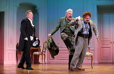 David Beach, John Rensenhouse, Lee E. Ernst - Westport Playhouse - A Flea In Her Ear - photo by C. Rosegg