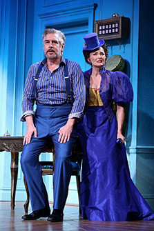 Stephen Pelinski, Elizabeth Heflin - Westport Playhouse - A Flea In Her Ear - photo by C. Rosegg
